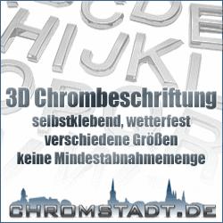 3D Chrombeschriftung